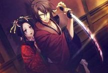 "Hakuouki Shinsengumi Kitan / I really liked this anime, but it's has a bad sad ending.  It would have been nice if the story would have taken a different turn in the story.  But the prequel story ""Hakuouki Reimeiroku,"" has a much better ending, that will make you cry in a better way.  *teary Otaku smile* / by Heidi"