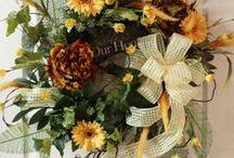 Front Door Wreath Inspiration / by Nina Blevins
