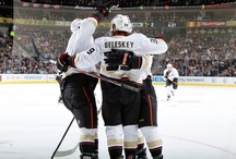 Ducks Hockey Hugs / A collection of the most precious moment in hockey - the celebratory hug after scoring a goal. / by Anaheim Ducks