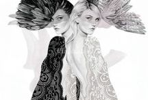 lace / lots of lace references, illustrations, and photos. Also great sketching tutorials for sheer lace. / by Ms. RAD