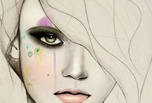 Contemporary Illustrated Faces / by Ms. RAD