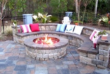 Landscapes / Landscape ideas...firepits, outdoor seating / by Angela Reagan