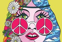 Groovy Music / 60s Hippies Peace Love Sunshine Pop 70s / by Jeanne Kimsey