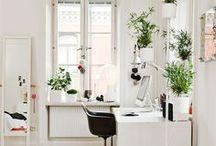 Creative Workspaces, Studios, Workshops // Create & Thrive / by Jessica Van Den