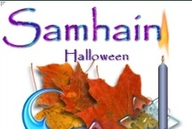 Samhain- Oct 31 / 1 of the 4 Greater Sabbats, Samhain is a time to celebrate the lives of those who have passed on and it often involves paying respect. In some rituals the spirits of the departed are invited to attend the festivities. It is seen as a festival of darkness, which is balanced at the opposite point of the wheel by the festival of Beltane, which is celebrated as a festival of light and fertility. It is also Witches New Year.  / by Danielle Ward