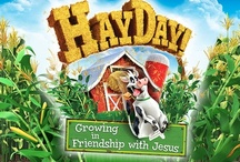 HayDay Weekend VBS 2013 / Kids will be up to their elbows in farmin' fun as they explore one simple Bible truth: Jesus will always love us.  Group's Weekend VBS is: -Easy for leaders—each leader preps only 20 minutes of daily material! -Easy to remember—a single Bible Point is reinforced daily at every station! -Easy for making friends—small multi-age groups stick together! / by Group VBS