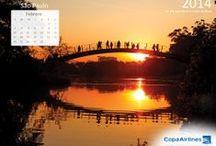 Calendario 2014 / Mes a mes lleva nuestros calendario directamente a la pantalla de tu computadora, este año con los bellísimos paisaje de Brasil. / by Copa Airlines