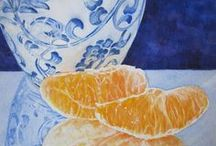 Still Life - Watercolors by Barbara Rosenzweig - Fine Art Paintings / To discover my work and learn more about me please visit http://BarbaraRosenzweig.etsy.com and http://WatercolorsbyBarbara.fineartamerica.com/ / by Barbara Rosenzweig Art