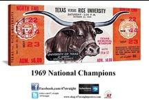 Texas Football Art / Texas Football Art. Vintage Texas Football Art. Texas Football art made from authentic Texas football tickets. Texas football art on canvas. Texas football posters. Historic Texas football art. The best Texas football art! 47 STRAIGHT.™ / by 47 STRAIGHT™