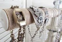 Jewelry Displays / Everything looks better displayed on something sparkly, something shiny, and something gorgeous! / by <<<<Rachelle Jones>>>>