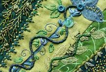 Fiber Art-cross stitch/Embroidery/Textile Art / by Heather Merrifield