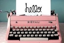 Storytelling / Books, authors, reading, music, writing studios, quotes, pens, film, typewriters, diaries, journals, scripts, stamps, letters, writing, correspondence, software, apps, book covers, postcards, typography, fonts & handwriting.  / by Kate England