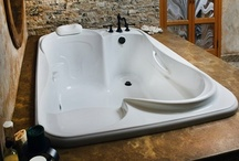 Bathroom Reno ideas / Because it's a dream of mine to gut our tiny bathroom that leaks and start from scratch. It's (very) small, but that doesn't mean it can't be awesome! / by Colleen Smith