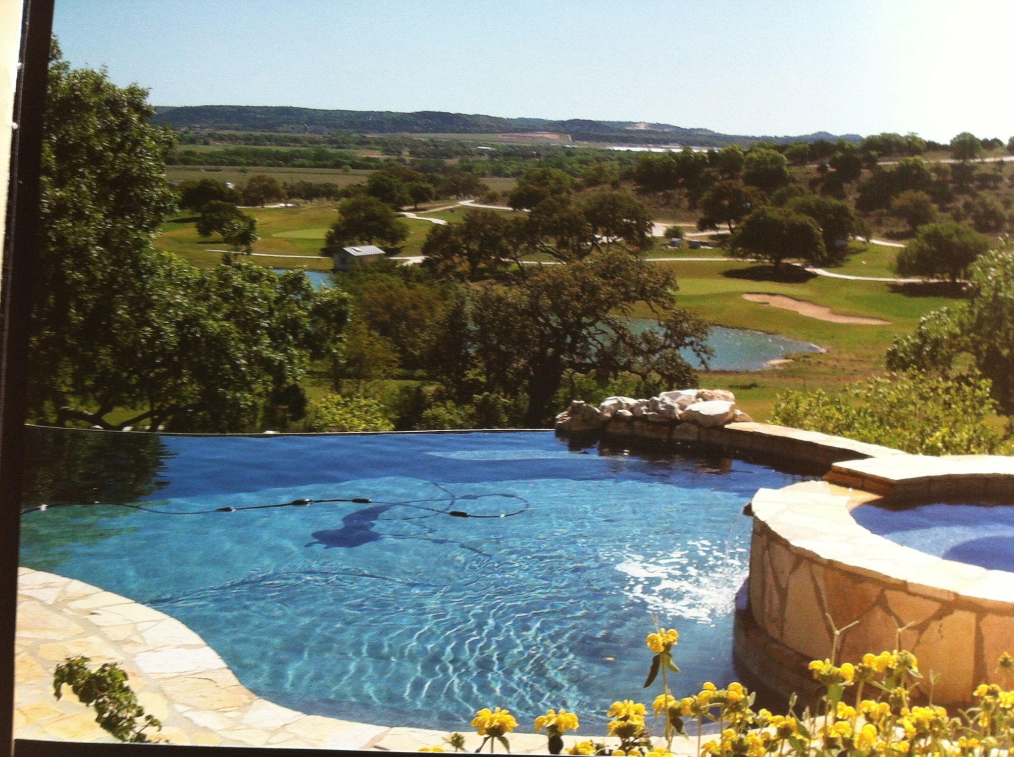 Hillside pool outdoor living pinterest for Hillside pool ideas