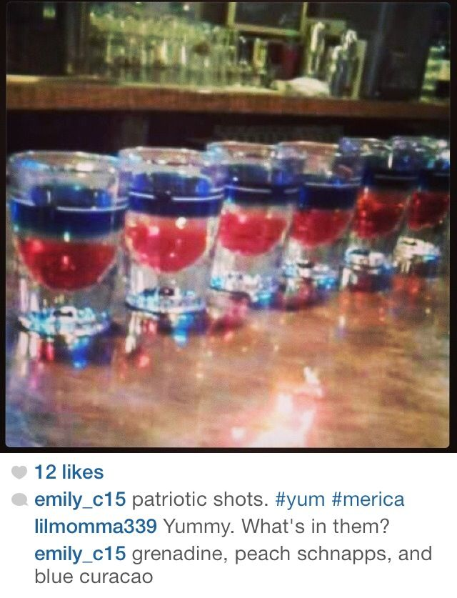 Patriotic shots | 4th of July fun | Pinterest