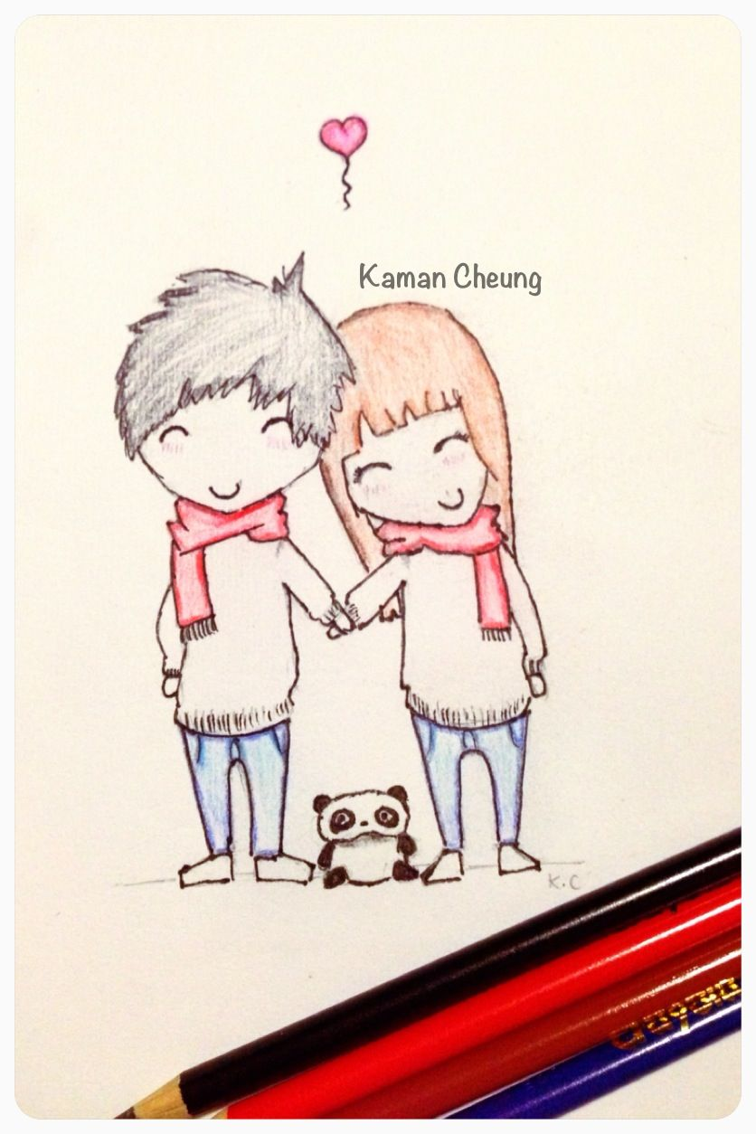 Cute relationship drawing ideas the for Love drawing ideas