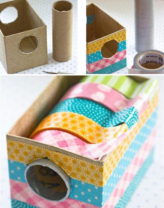 Коробка своими руками для хранения лент