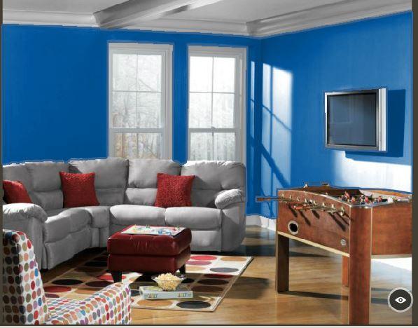 Sherwin Williams Hyper Blue Living Room Paint Ideas Pinterest