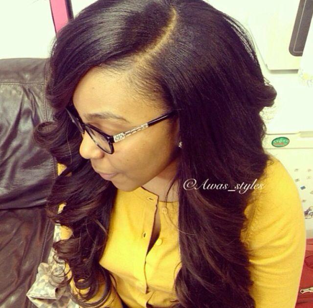 deep wave sew in hairstyles : Deep side part wig Weave!! Pinterest