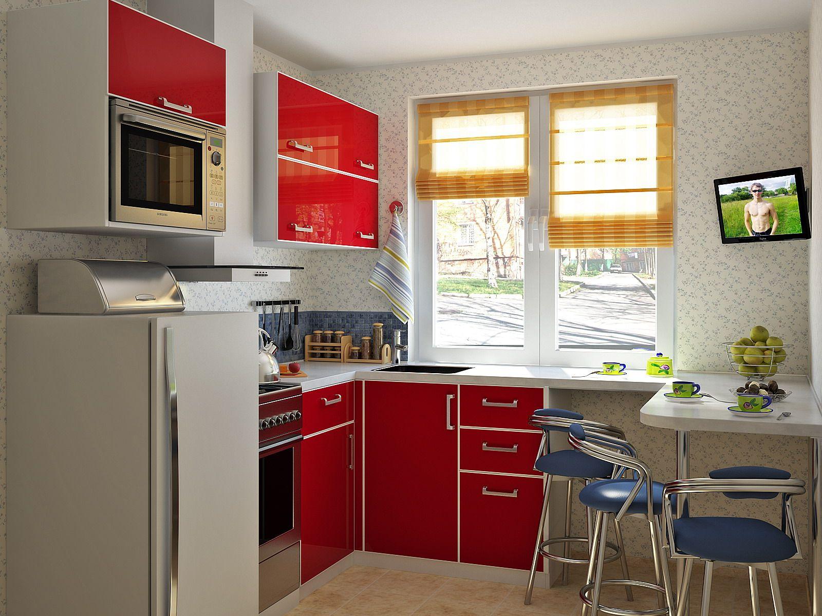 Ремонт маленькой кухни на примере 10 квартир (70 фото, видео) 16