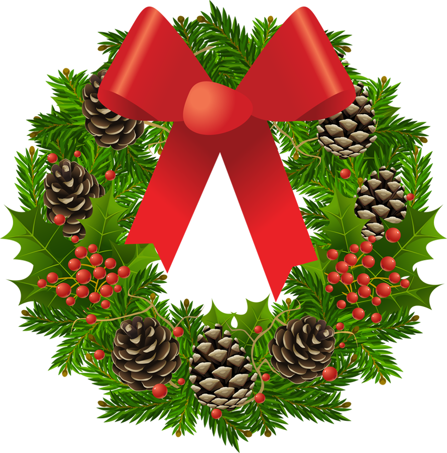 Christmas wreath | Clip Art Holiday Scrapbook, Cards, Images etc. Lot ...