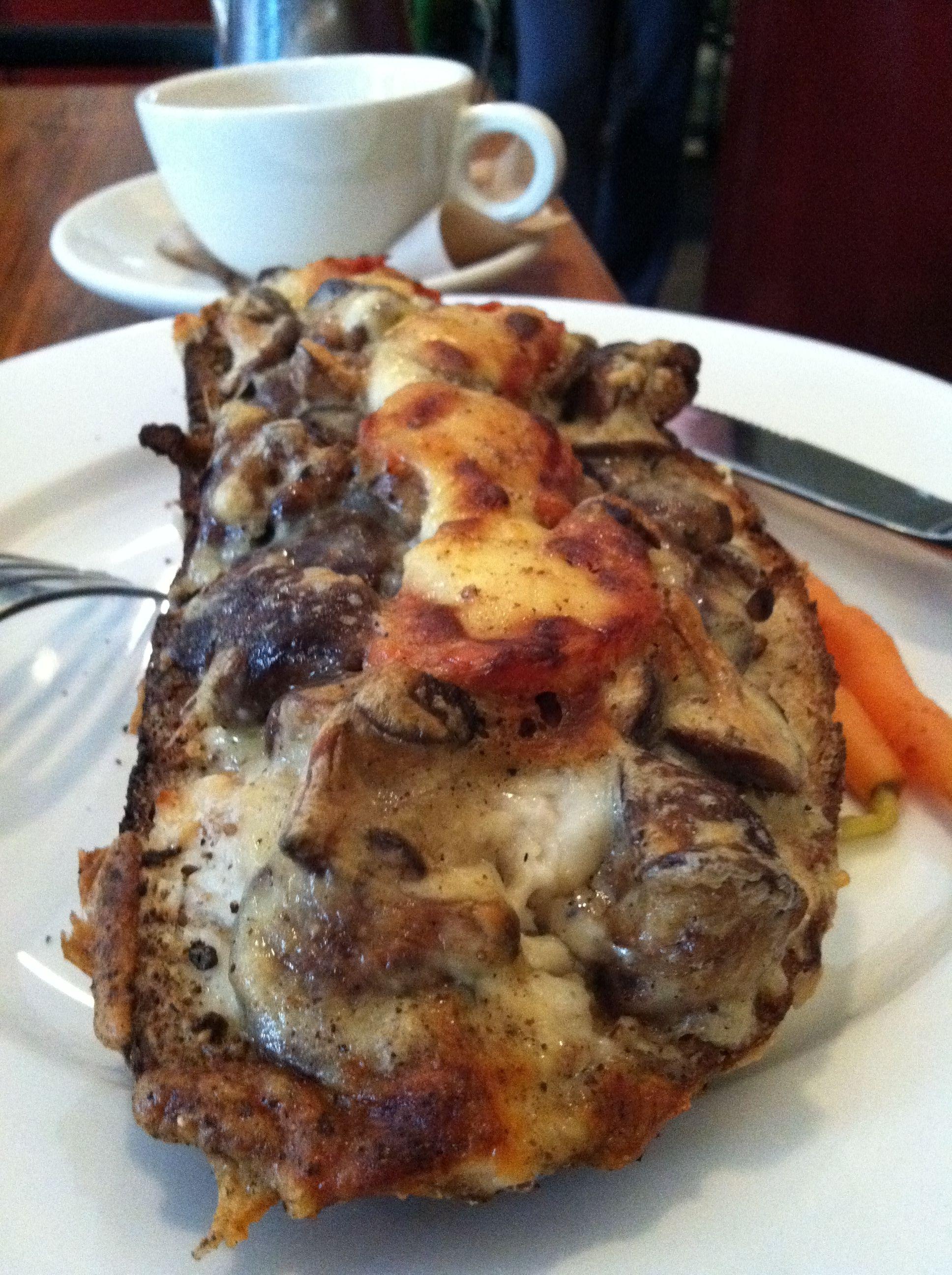 Amazing shitake mushroom croque monsieur | Food | Pinterest