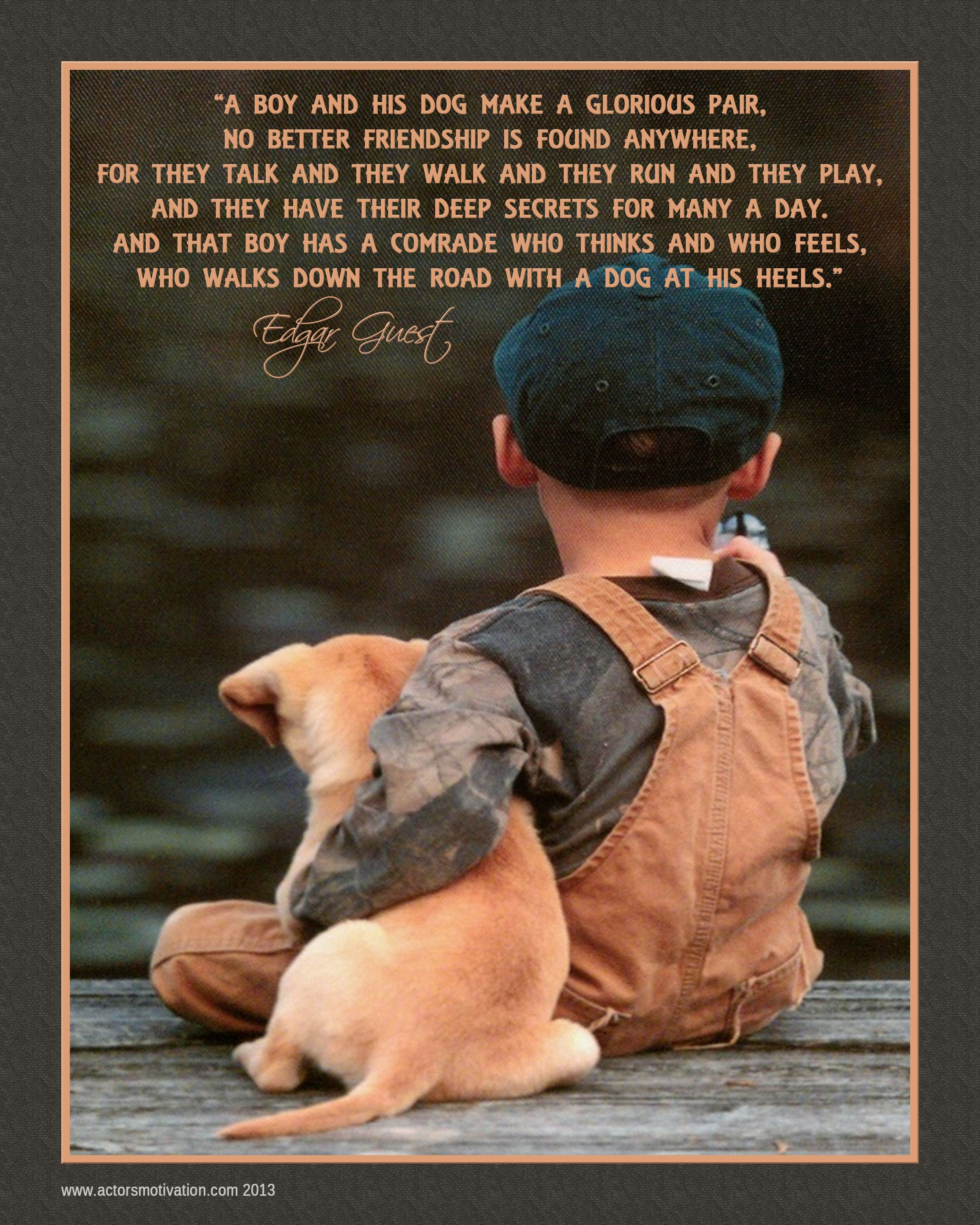 quotes about a boy and his dog quotesgram