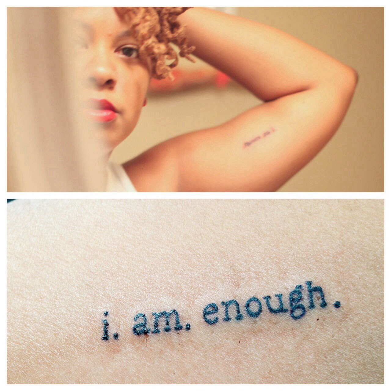 I Am Good Enough Tattoo i. am. enough. | Tatto...
