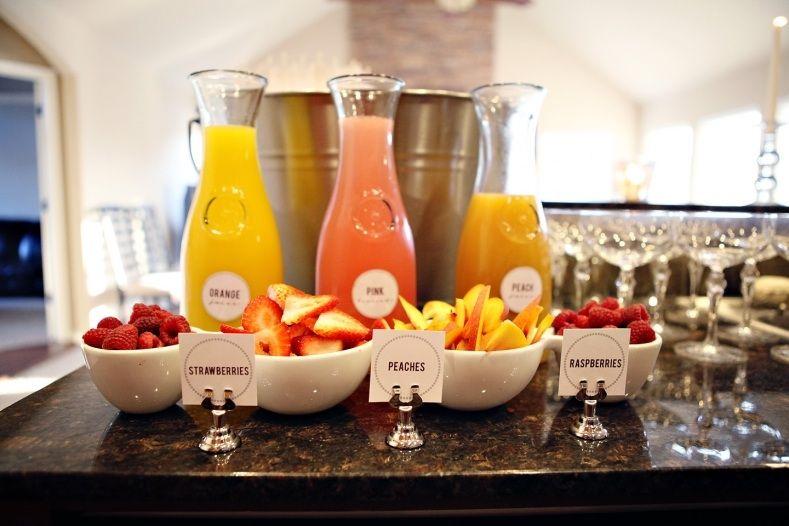 Mimosa bar   Bridal Shower Ideas   Pinterest