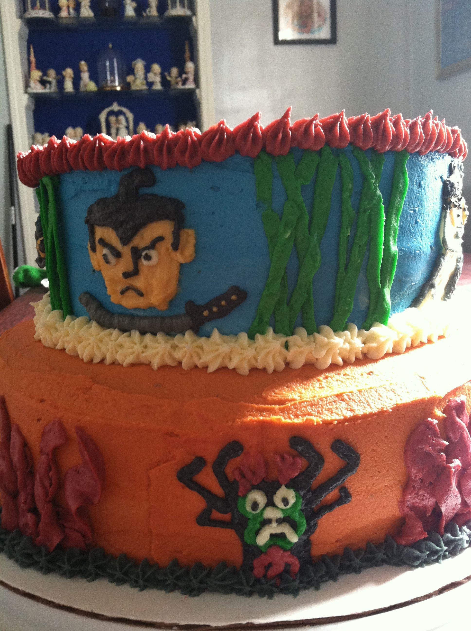 samurai jack cake
