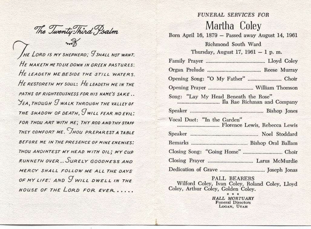 funeral program format template