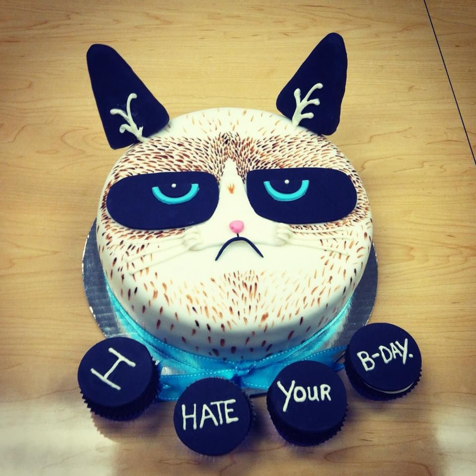 Grumpy Cat Cake Design : Pin by Karena on I Love Grumpy Cat Pinterest