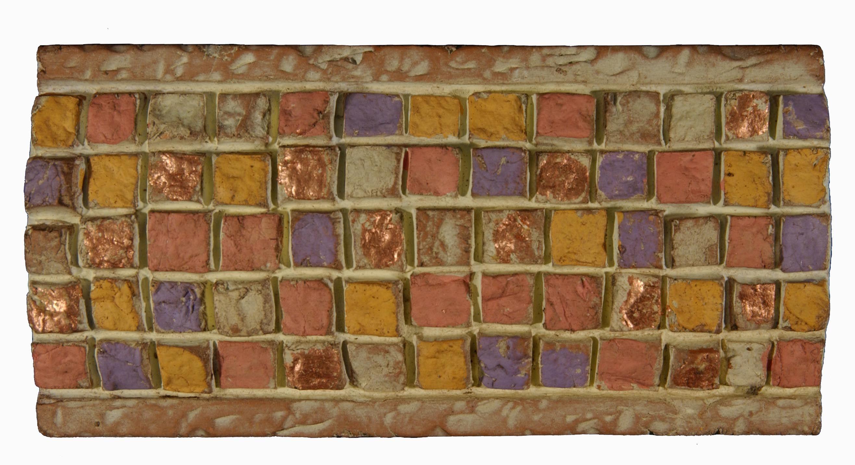 Decorative mosaic border italian terracotta tiles for Unique mosaic tile