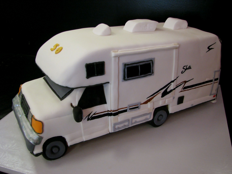 New  Cakes Amp More  Rocket Cake Truck Cake RV Cake Motorcycle Cake