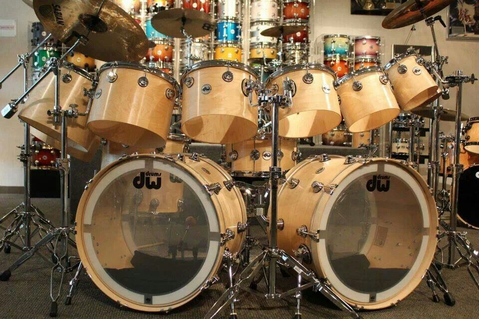 DW's concert tom kit | cool drum kits | Pinterest