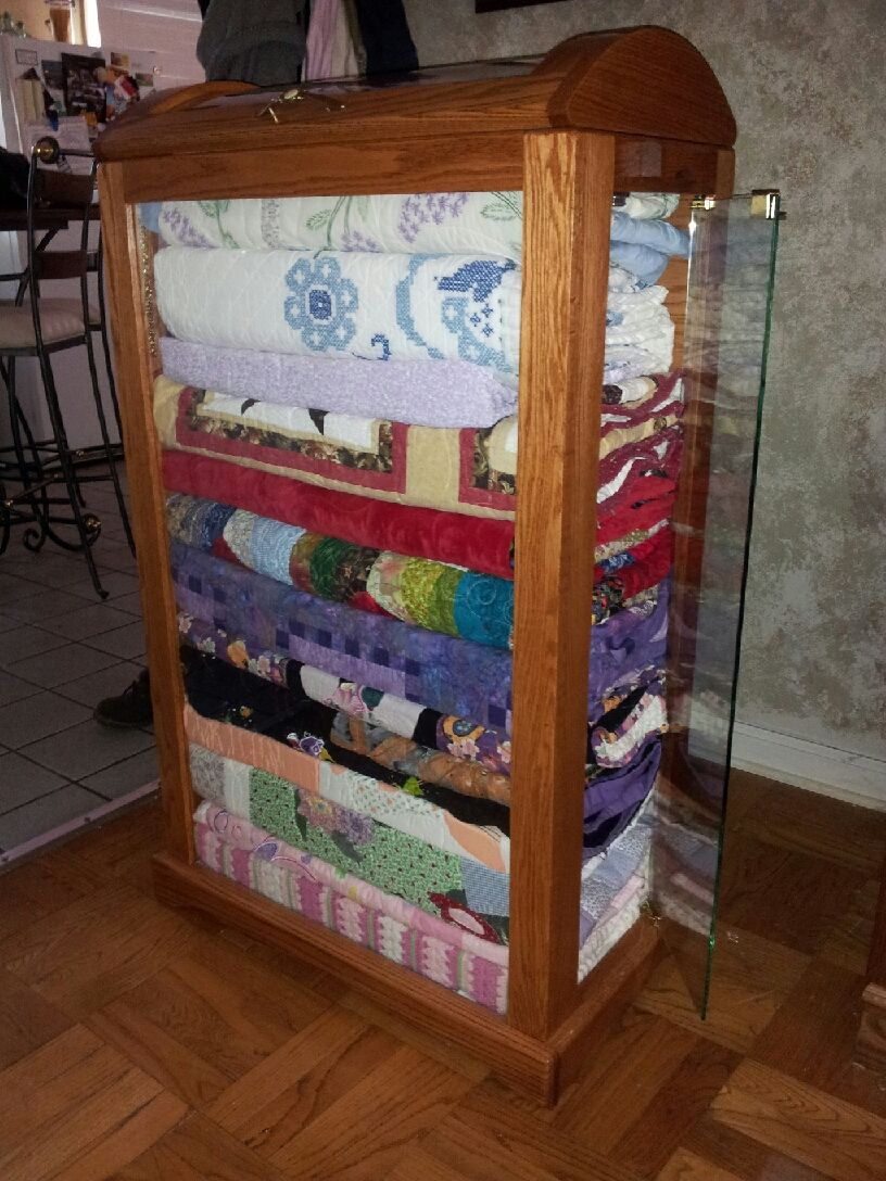 Display Your Favorite Quilts In A Quilt Curio Cabinet With