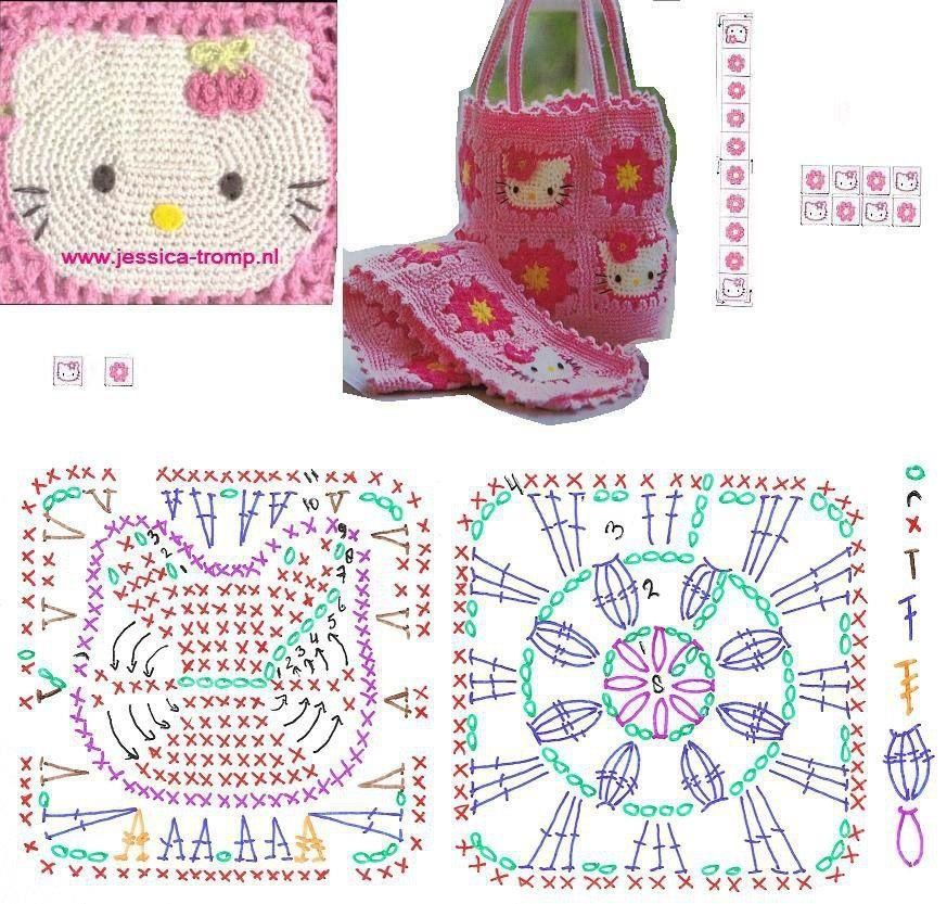 hello kitty crochet bags Pinterest