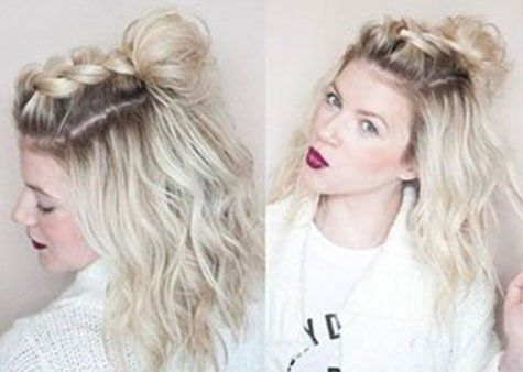 half up, half down hairstyles for short hair, hacks
