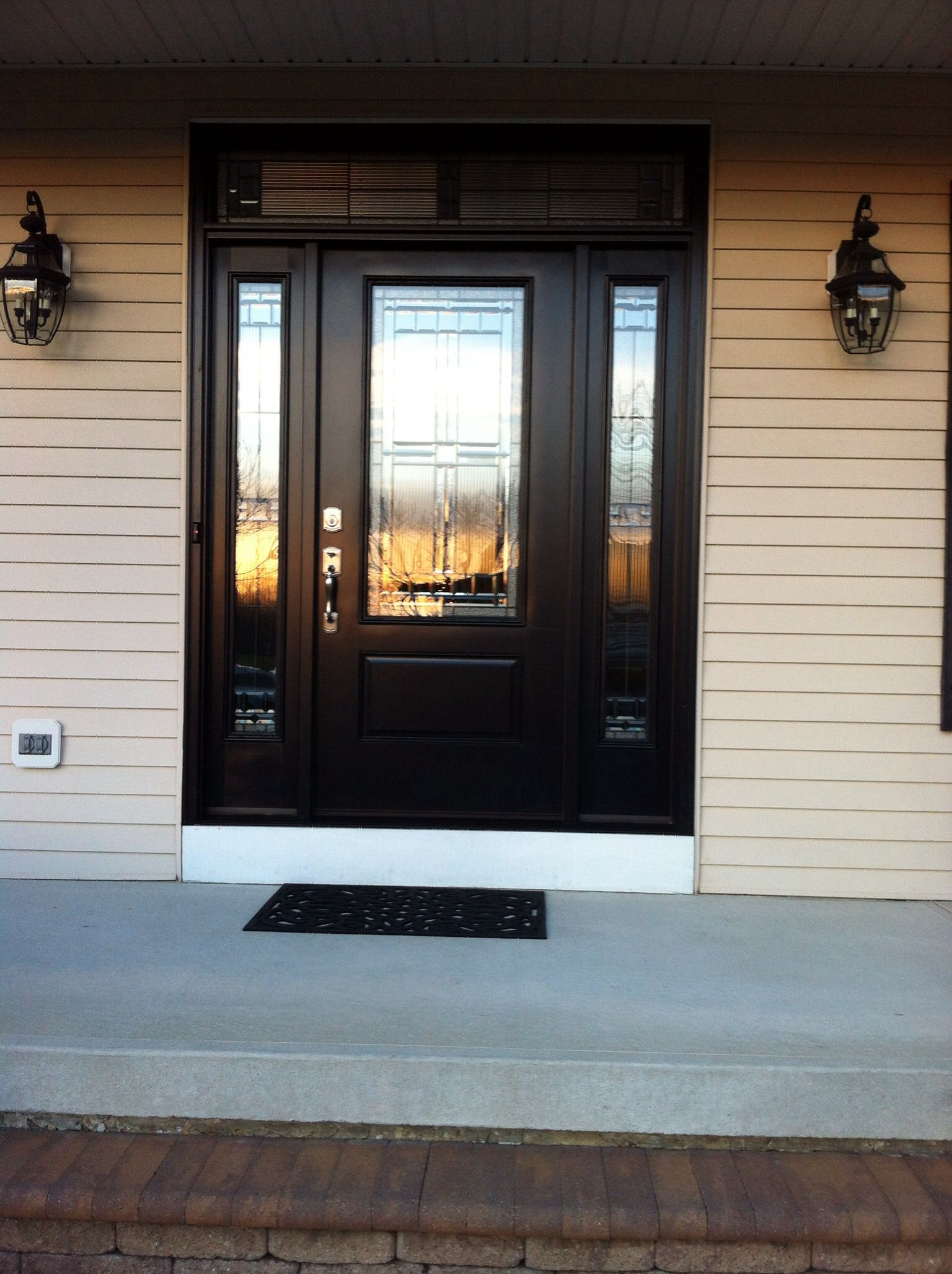 Black front door for the home pinterest for Black entry door with glass