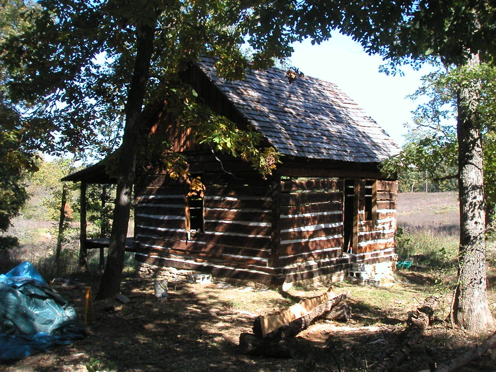 external chinking completed log cabin Log Cabin Pinterest