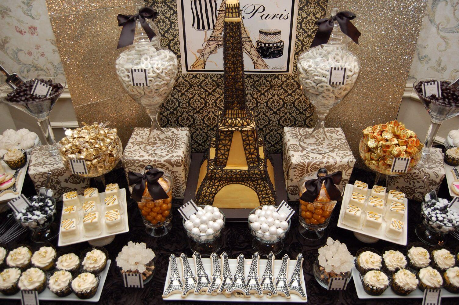 Paris themed dessert buffet paris pinterest for Paris themed desserts
