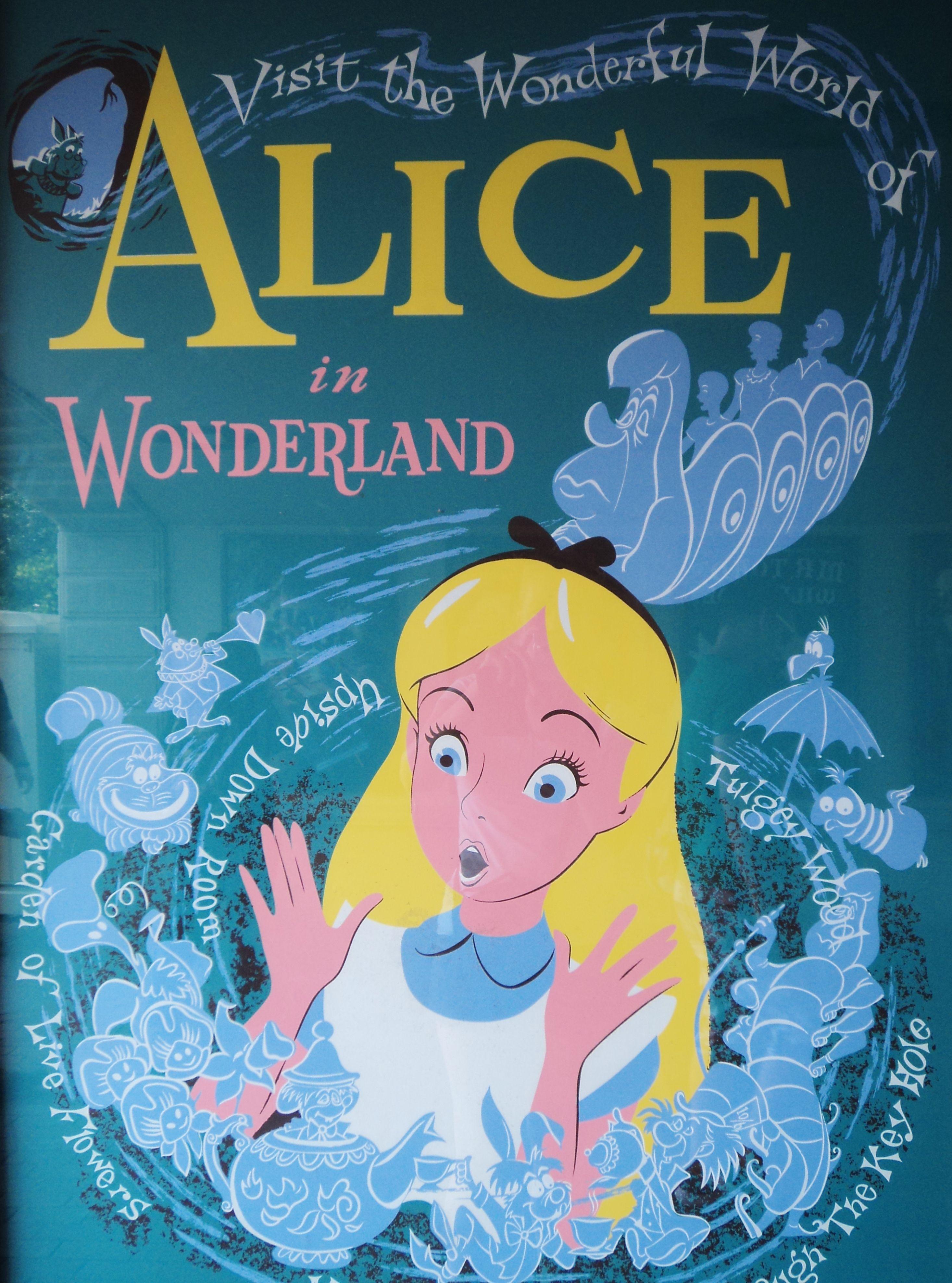 ALICE in WONDERLAND,1951, poster art | Back in the day | Pinterest