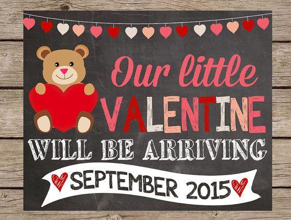 Valentines Day Pregnancy Announcement Chalkboard Sign - Valentine ...