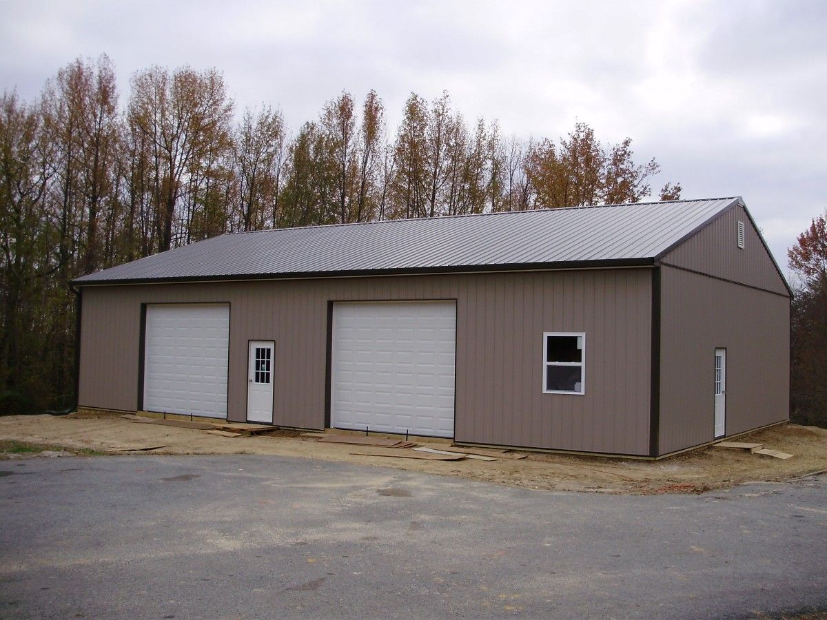 Pin by pioneer pole buildings inc on two car garages for 4 car pole barn