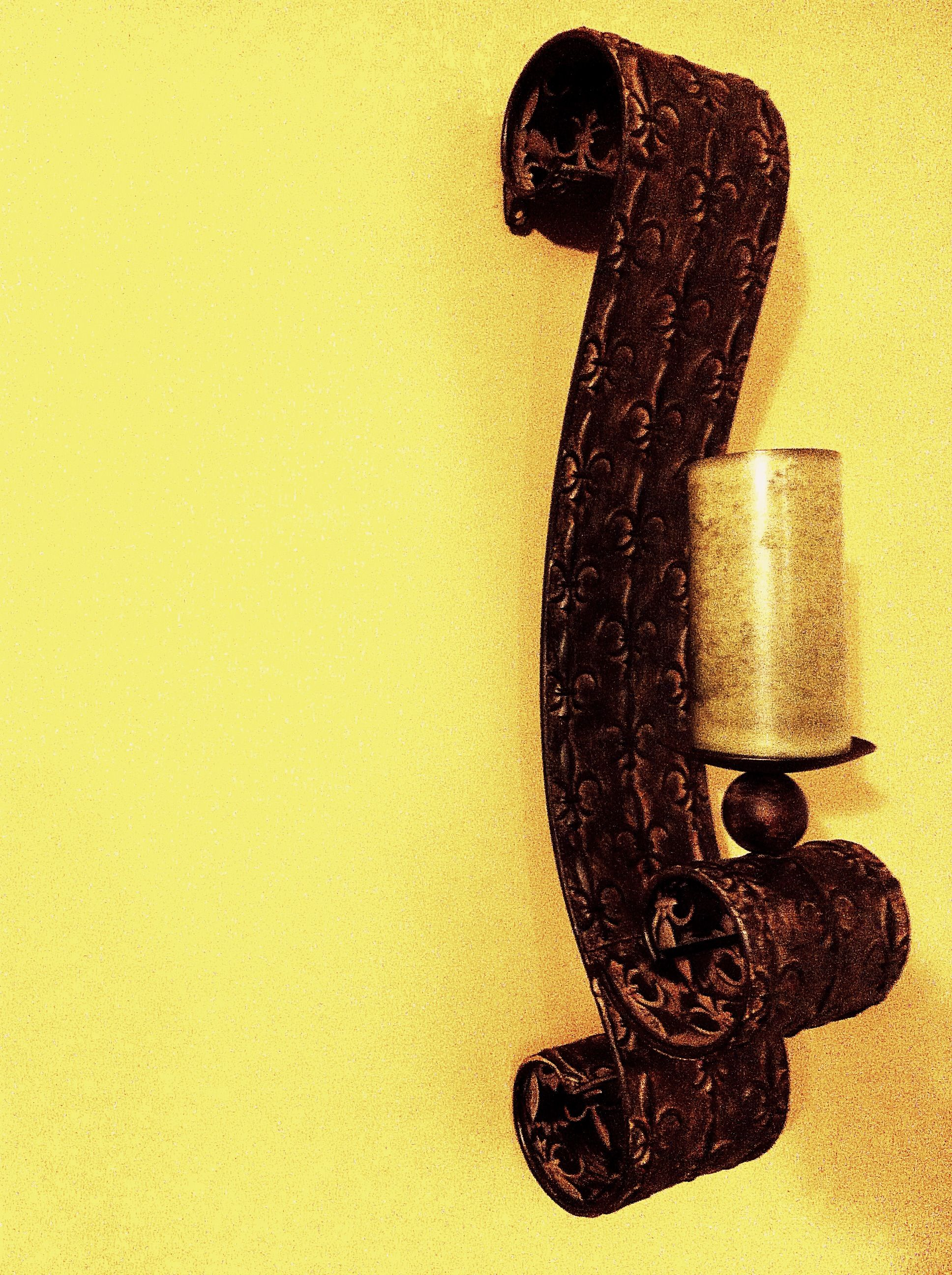 Rustic wall candle sconce. Wall Sconces/Wall Grills Pinterest