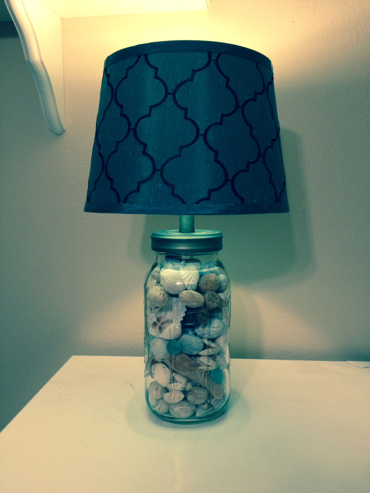 mason jar lamp coastal theme craft dyi ideas pinterest