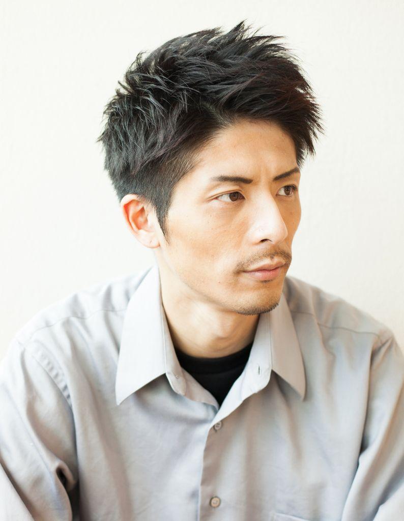 面長 髪型 男 短髪