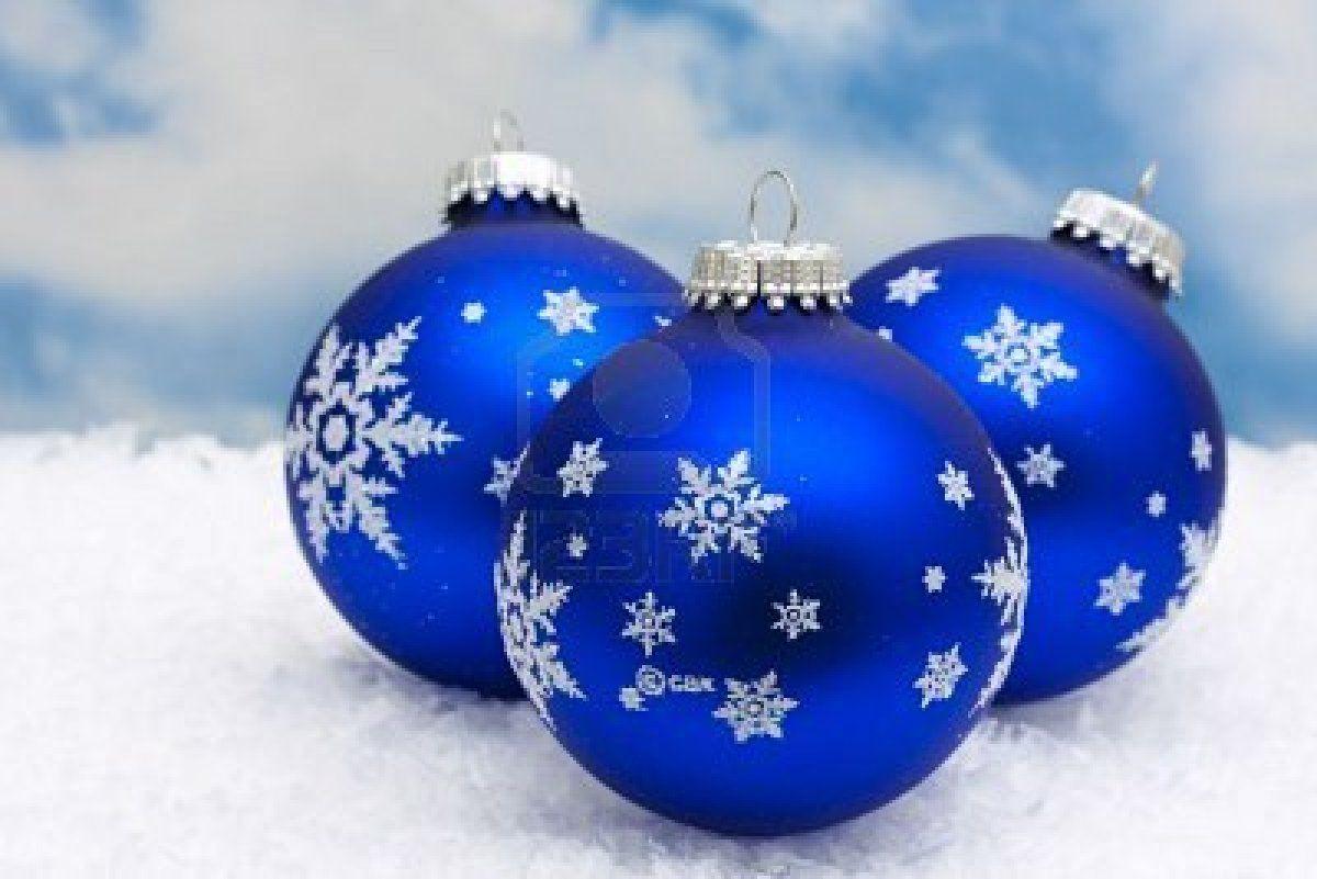 Blue christmas ornaments pinterest