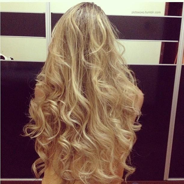 фото локоны на русые волосы