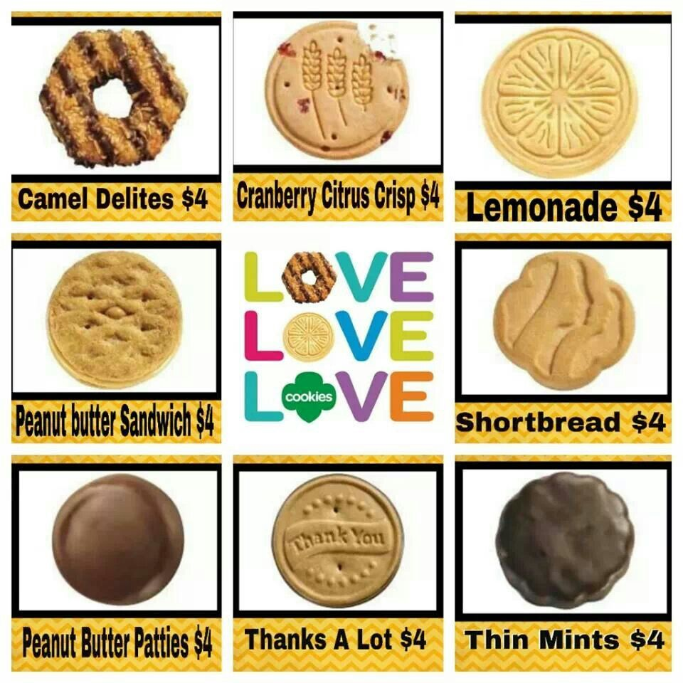 girl scout cookie price list